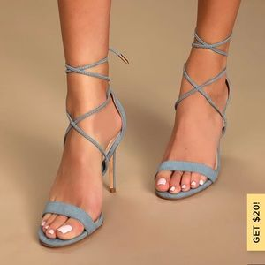 Light blue Lulu Heels
